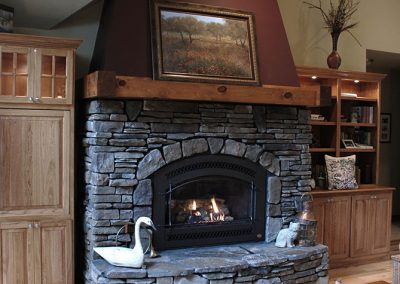 Ada Lake Landing Fireplace